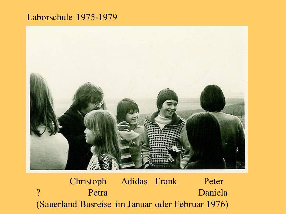 Laborschule 1975-1979 Christoph Adidas Frank Peter ? Petra Daniela (Sauerland Busreise im Januar oder Februar 1976)