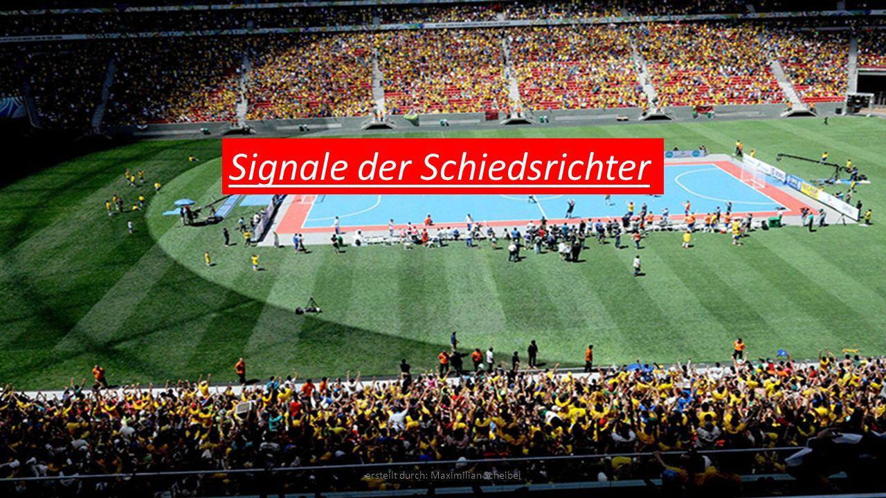 Signale der Schiedsrichter erstellt durch: Maximilian Scheibel