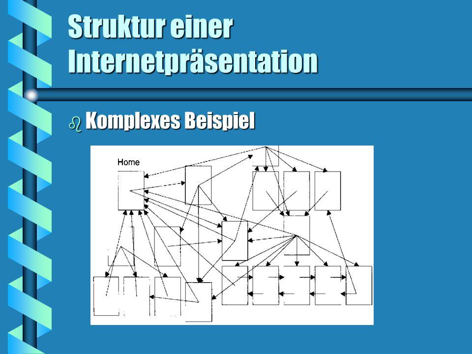 Struktur einer Internetpräsentation b Komplexes Beispiel