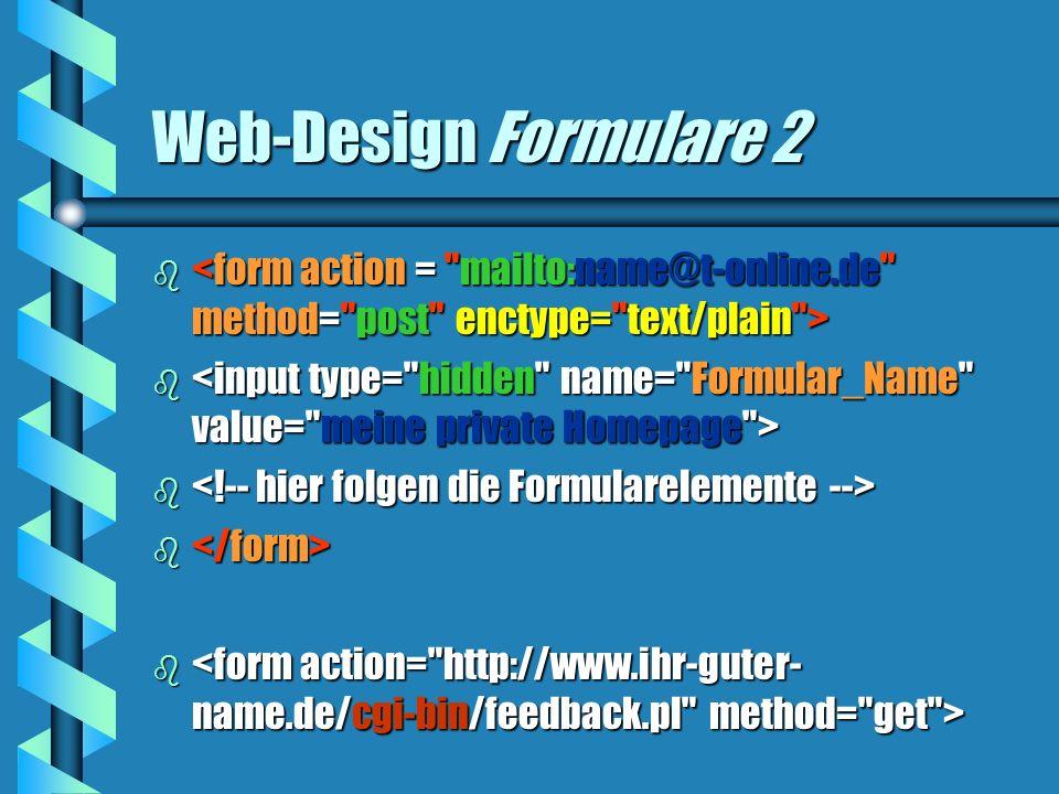 Web-Design Formulare 2 b b