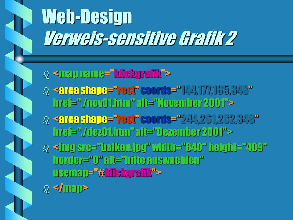 Web-Design Verweis-sensitive Grafik 2 b b