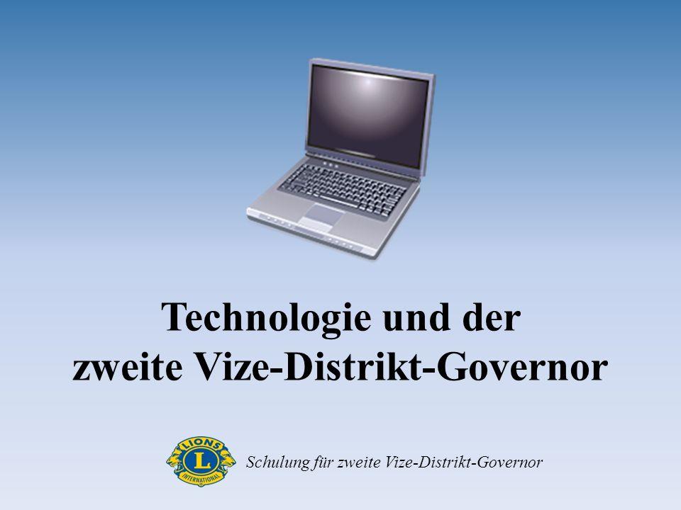 Technologie und der zweite Vize-Distrikt-Governor Schulung für zweite Vize-Distrikt-Governor