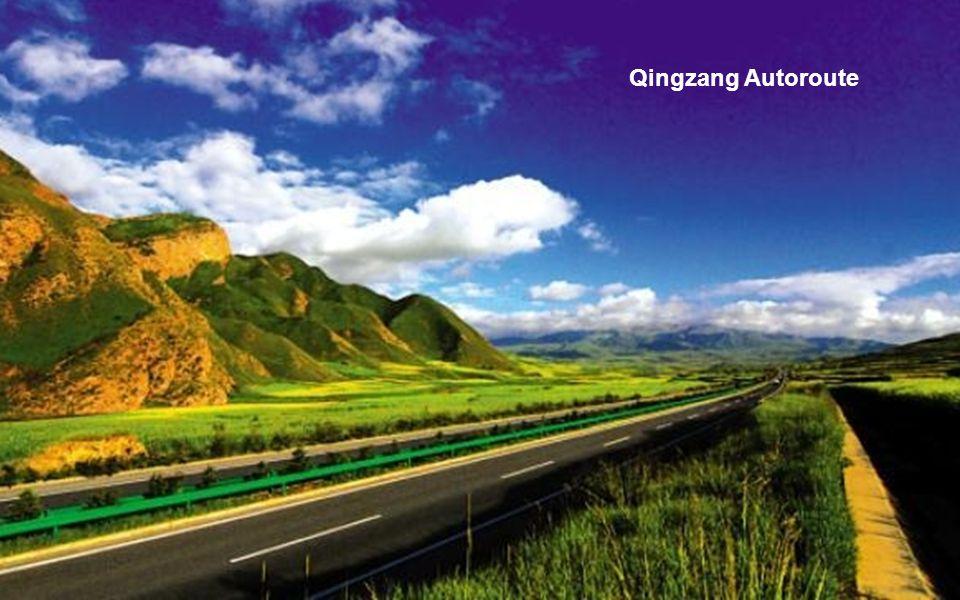 Qingzang Autoroute Chez nous ce serait une route communale.
