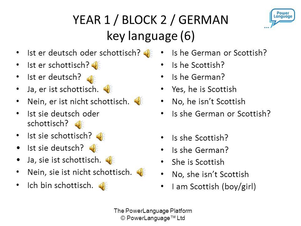 The PowerLanguage Platform © PowerLanguage™ Ltd Ist er deutsch oder schottisch.