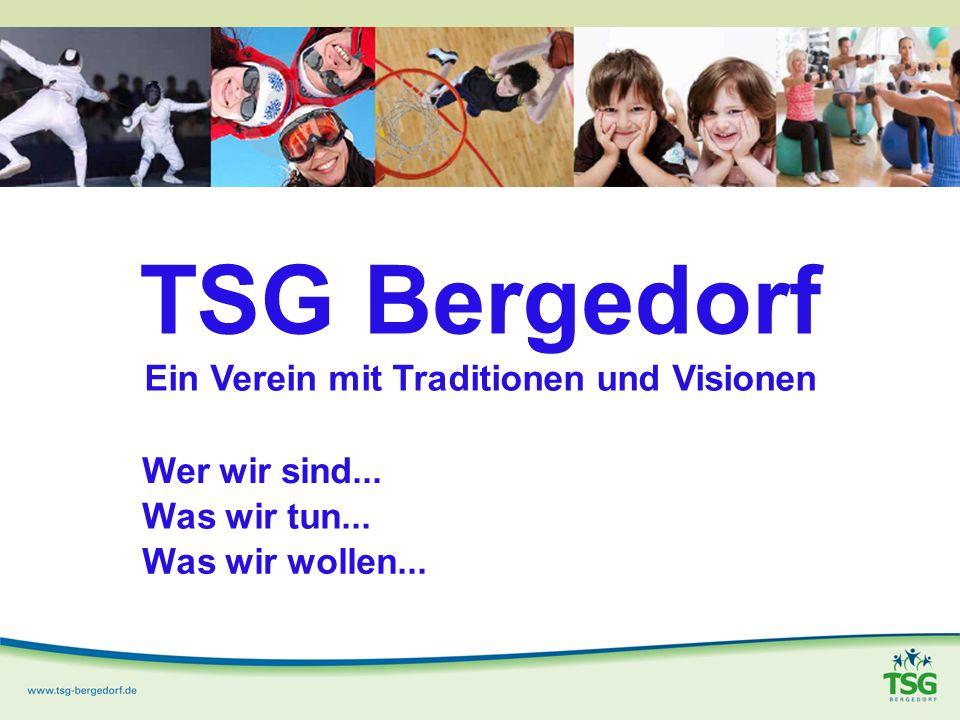 TSG Bergedorf Ein Verein mit Traditionen und Visionen Wer wir sind...