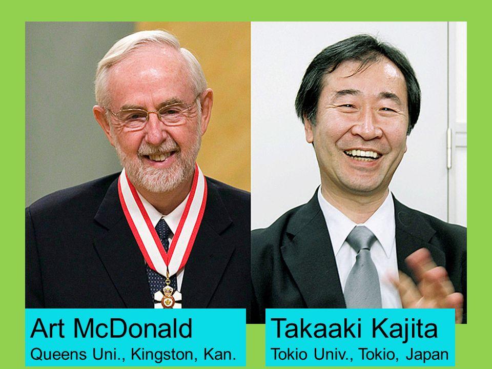 Art McDonald Queens Uni., Kingston, Kan. Takaaki Kajita Tokio Univ., Tokio, Japan