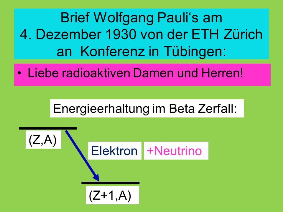 Brief Wolfgang Pauli's am 4.