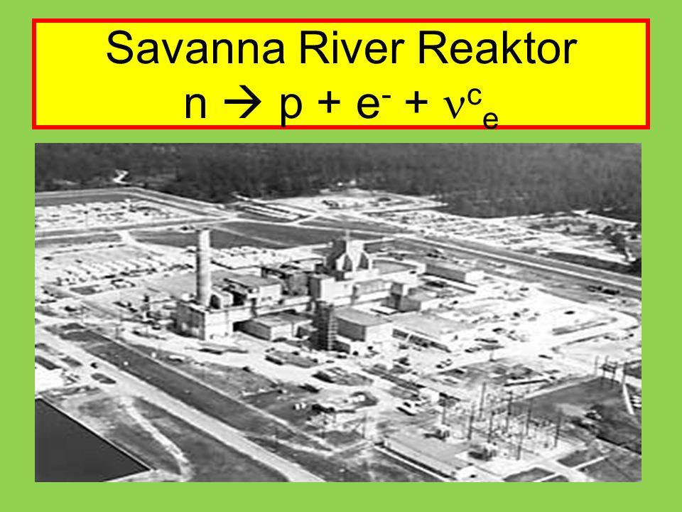 Savanna River Reaktor n  p + e - + c e