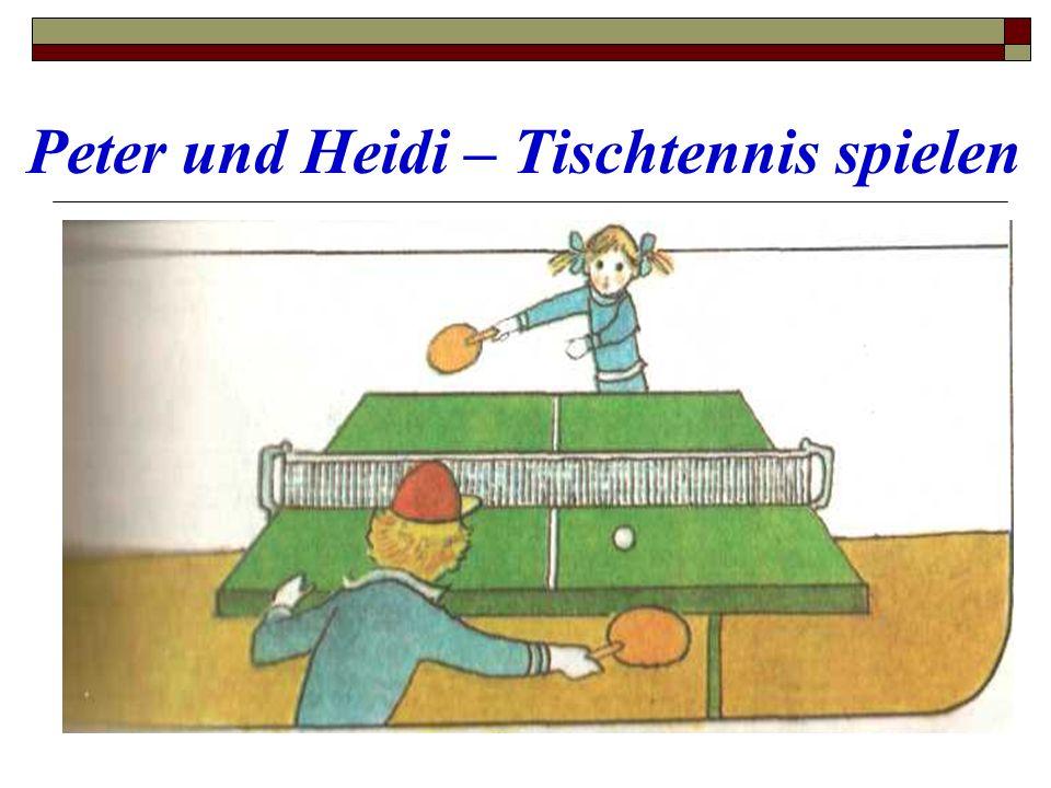 Peter und Heidi – Tischtennis spielen