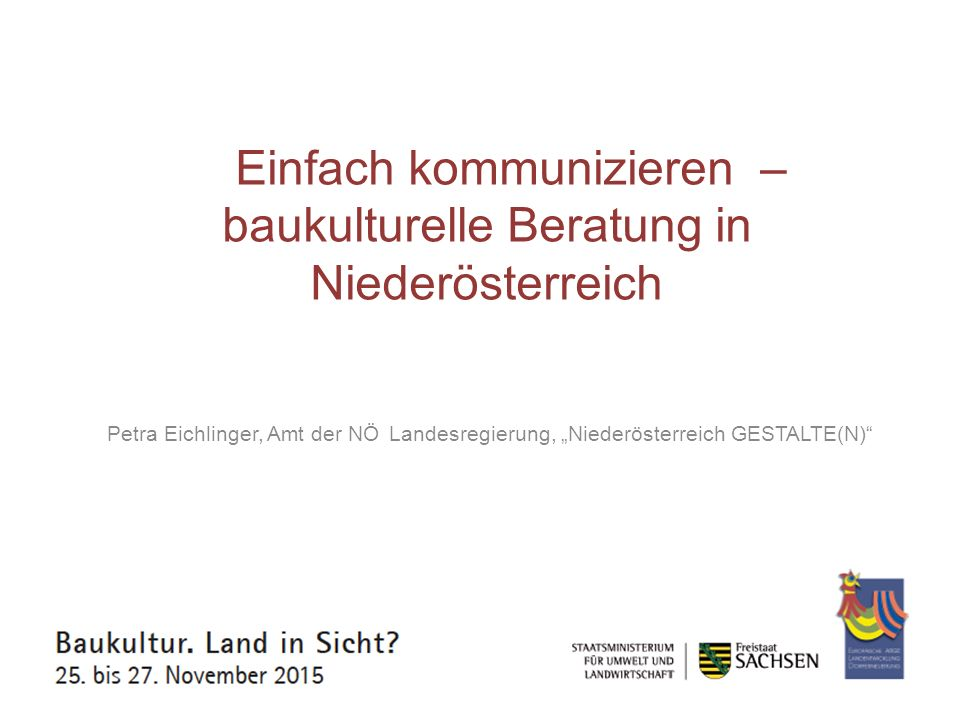 Dialog zur Baukultur – Ländliche Räume im Blick Niklas Nitzschke, Bundesstiftung Baukultur, Potsdam