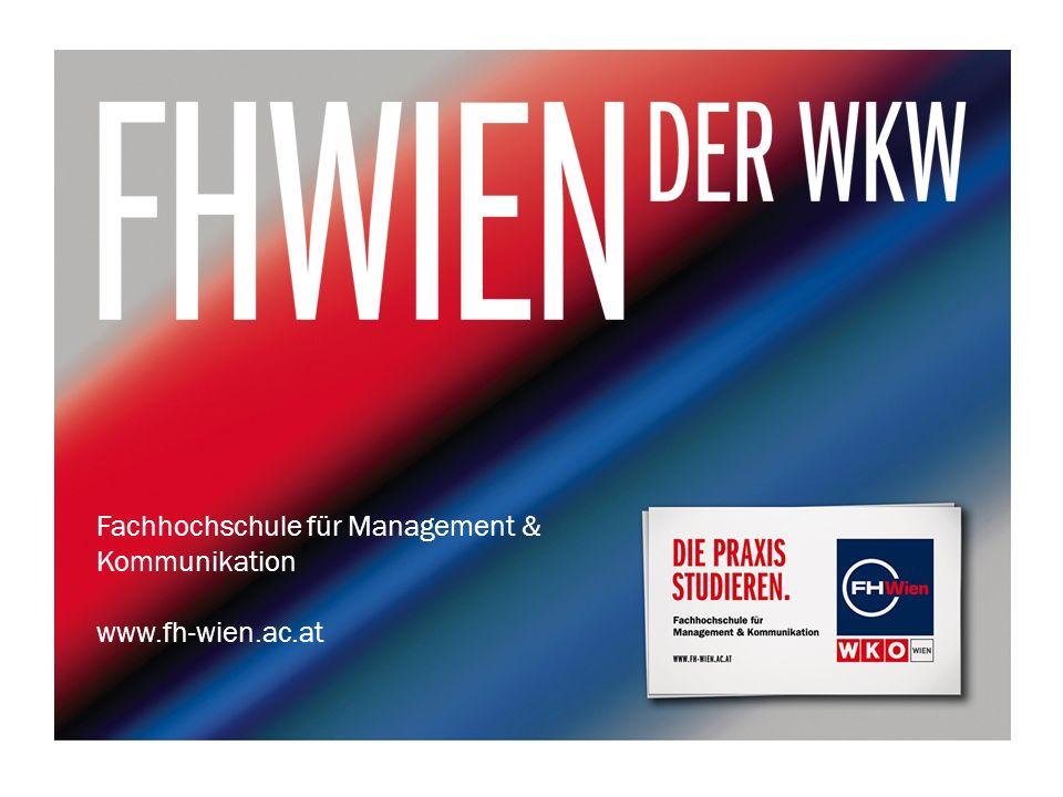 Fachhochschule für Management & Kommunikation www.fh-wien.ac.at