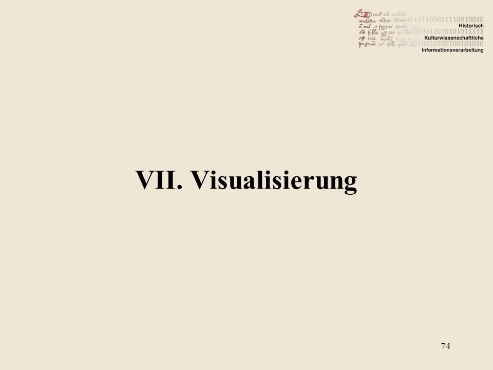 VII. Visualisierung 74