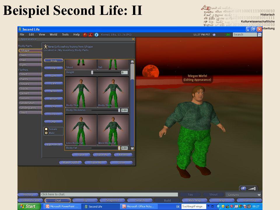 Beispiel Second Life: II 88