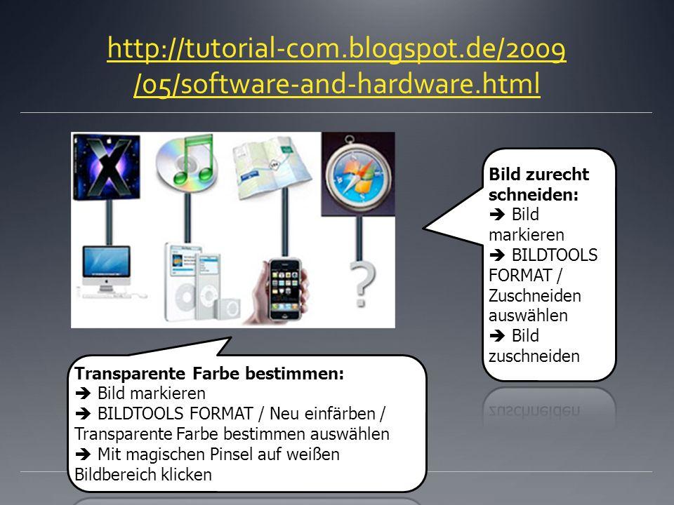 http://tutorial-com.blogspot.de/2009 /05/software-and-hardware.html