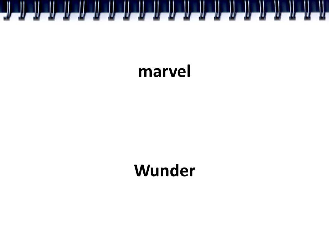 marvel Wunder