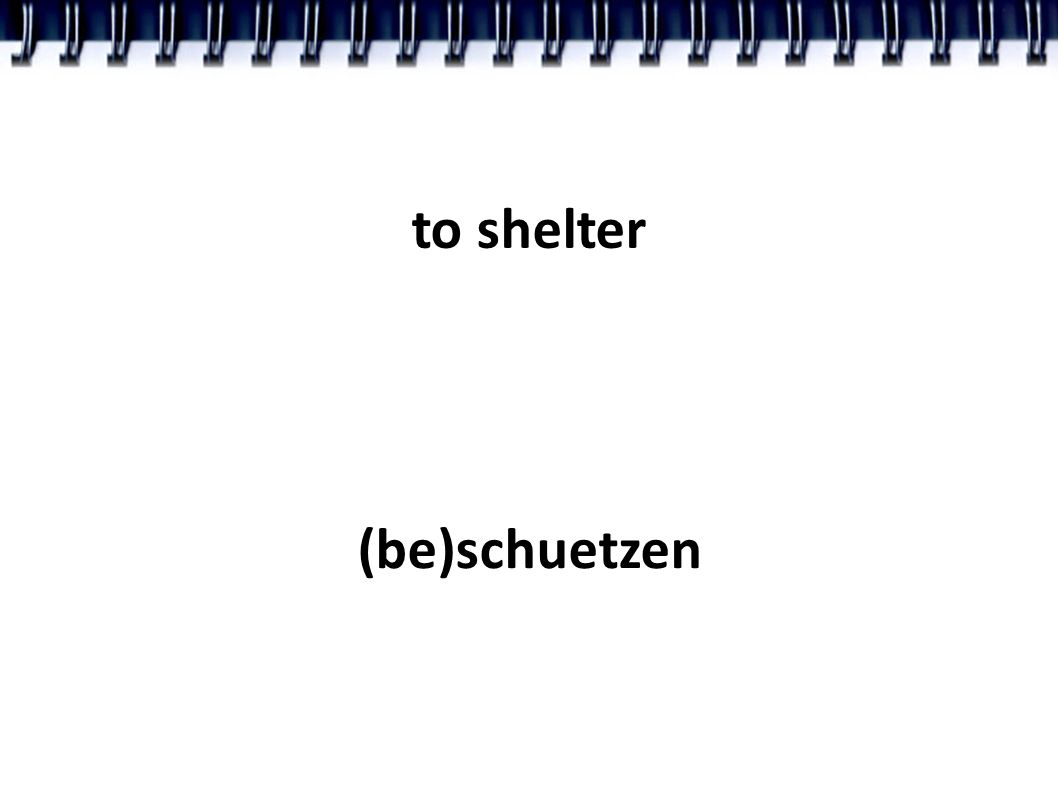 to shelter (be)schuetzen