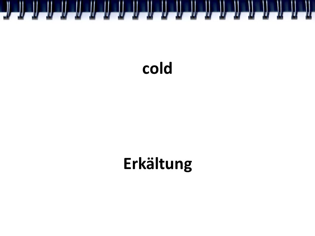 cold Erkältung