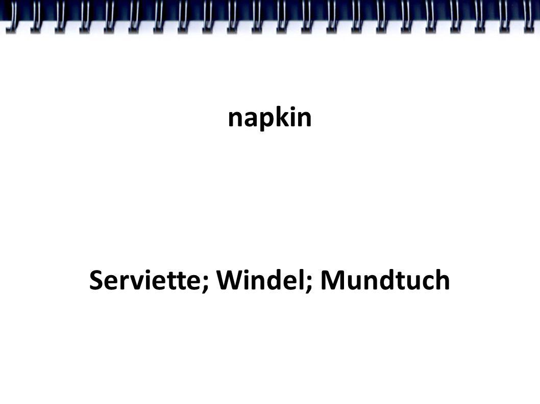 napkin Serviette; Windel; Mundtuch