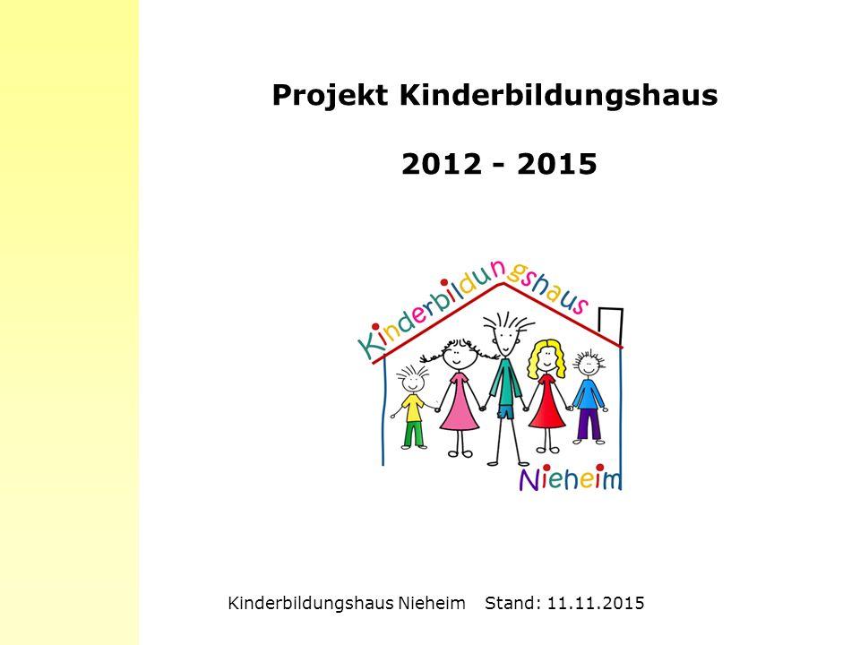 Projekt Kinderbildungshaus 2012 - 2015 Kinderbildungshaus Nieheim Stand: 11.11.2015