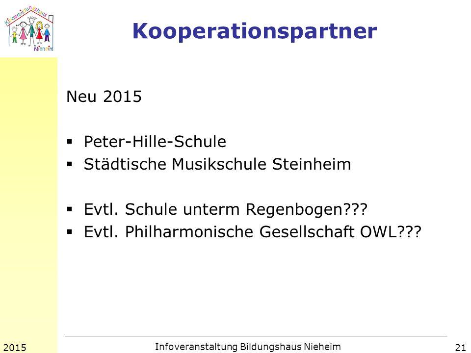 Kooperationspartner Neu 2015  Peter-Hille-Schule  Städtische Musikschule Steinheim  Evtl.