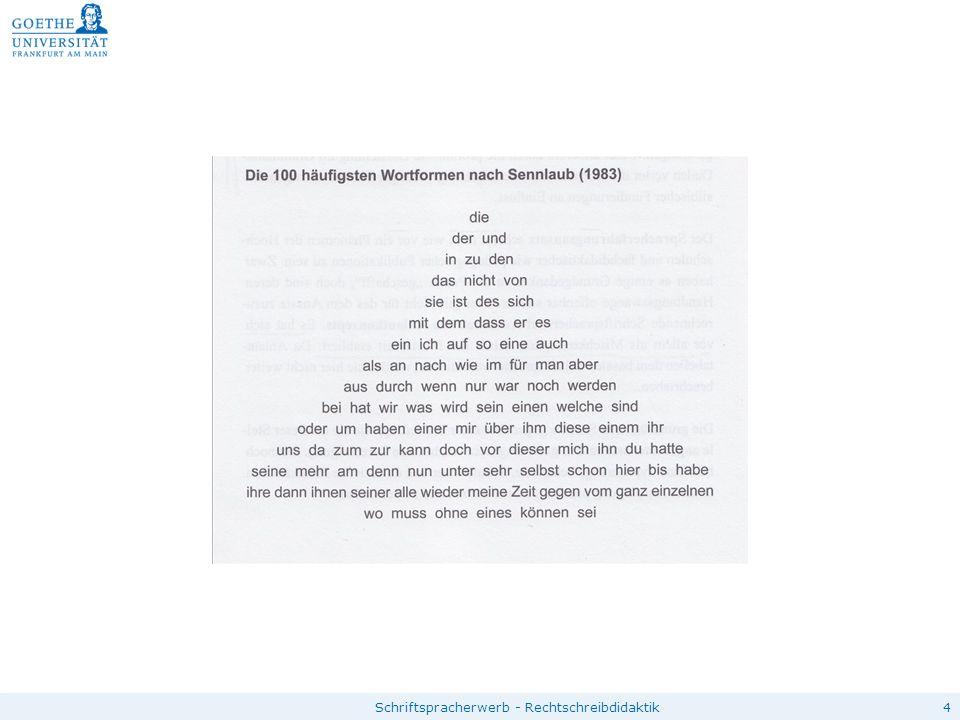"""5 Grundwortschatzkonzepte """"Ermutigung aus Begrenzung und Struktur der Orthografie (Naumann) Kriterien für die Zusammenstellung eines Wortschatzes:  Häufigkeit bei Erwachsenen  Häufigkeit bei Kindern  Modellcharakter für orthographische Phänomene  häufige Fehlerwörter  klasseninterner/ themenbezogener/ individueller GWS Kritische Überlegungen:  Bezugspunkt für die Auszählung der Häufigkeitsverhältnisse  lexembezogene GWS versus Einbeziehung verschiedener Wortformen  Inhaltswörter streuen stark – Funktionswörter wenig fehleranfällig  GWS kann nicht beliebig quantitativ erweitert werden  keine bloßes Eintrainieren ohne Nachdenken"""