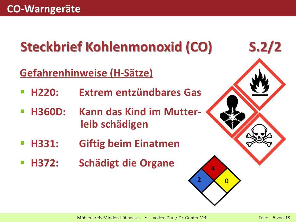 Folie von13 Mühlenkreis Minden-Lübbecke  Volker Dau / Dr. Gunter Veit 5 Gefahrenhinweise (H-Sätze)  H220:Extrem entzündbares Gas  H360D:Kann das Ki