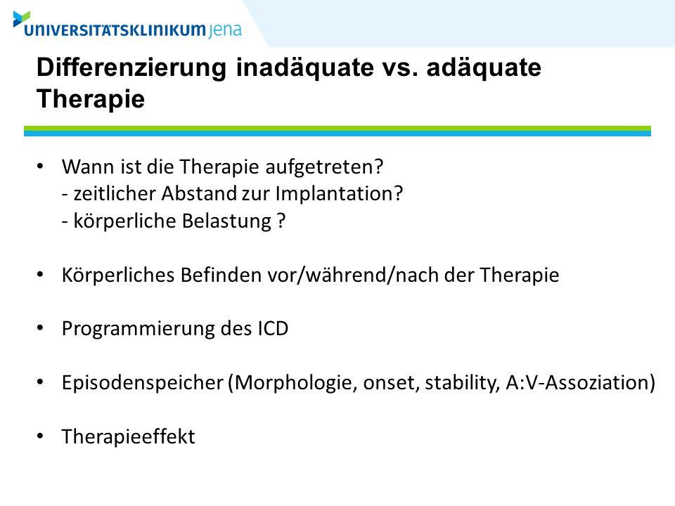 ICD-Therapie bei ES (AVID) 41 Pat.(46%) mit Schocktherapie 24 Pat.