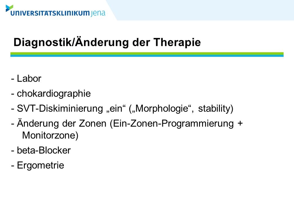Therapieoptionen bei Tachy-A.p.