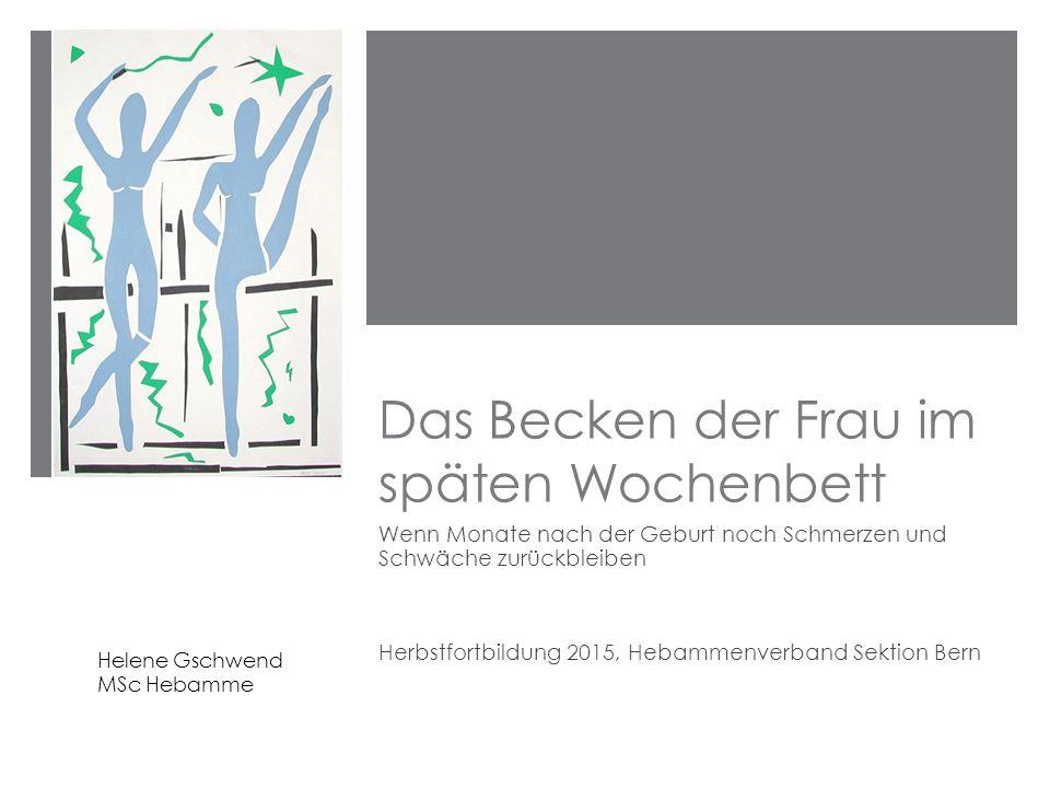 """ Mit der Sechswochenkontrolle endet in der Schweiz die medizinische Versorgung der Wöchnerin  Es fehlen spezifische Angebote für """"späte Wöchnerinnen ."""