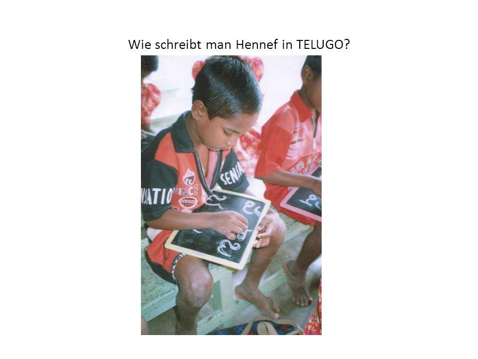 Wie schreibt man Hennef in TELUGO