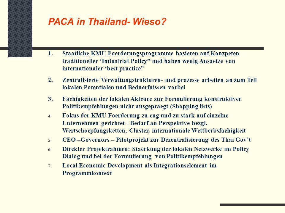 PACA in Thailand- Wieso.