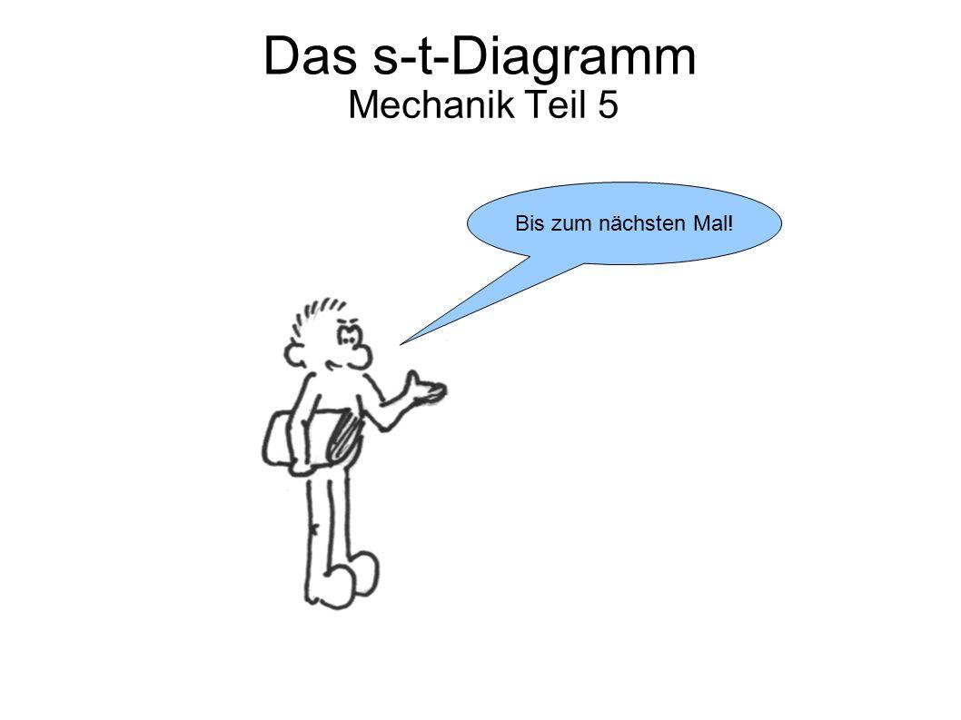 Mechanik Teil 5 Bis zum nächsten Mal! Das s-t-Diagramm