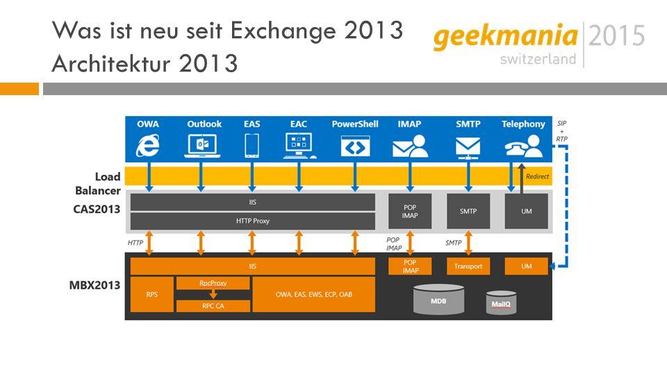 Was ist neu seit Exchange 2013 Architektur 2013