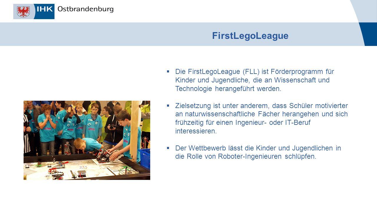 _______________ Titel der Veranstaltung, Autor, Datum FirstLegoLeague  Die FirstLegoLeague (FLL) ist Förderprogramm für Kinder und Jugendliche, die an Wissenschaft und Technologie herangeführt werden.