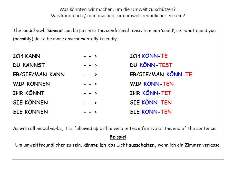 Übersetze die folgenden Sätze ins Deutsche.1.I have begun to separate rubbish.