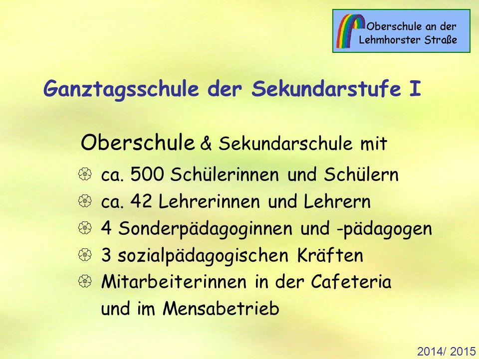2014/ 2015 Ganztagsschule der Sekundarstufe I Oberschule & Sekundarschule mit  ca.