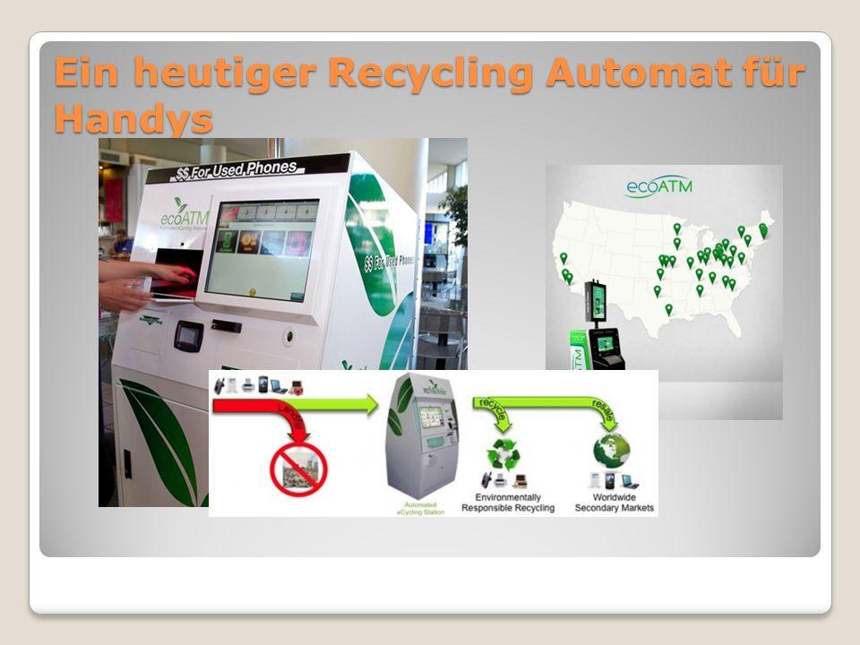 Unser Automat +Vorteile Die Rohstoffe werden direkt im Automaten getrennt Der Automat ist kompakt und mobil (evtl.