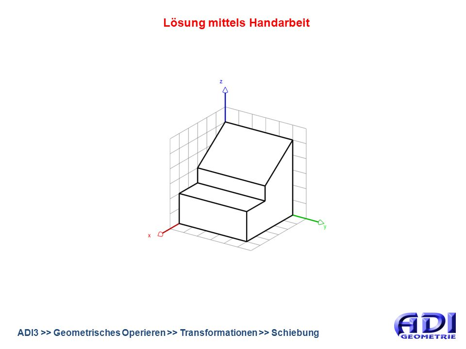 ADI3 >> Geometrisches Operieren >> Transformationen >> Schiebung Lösung mittels Handarbeit