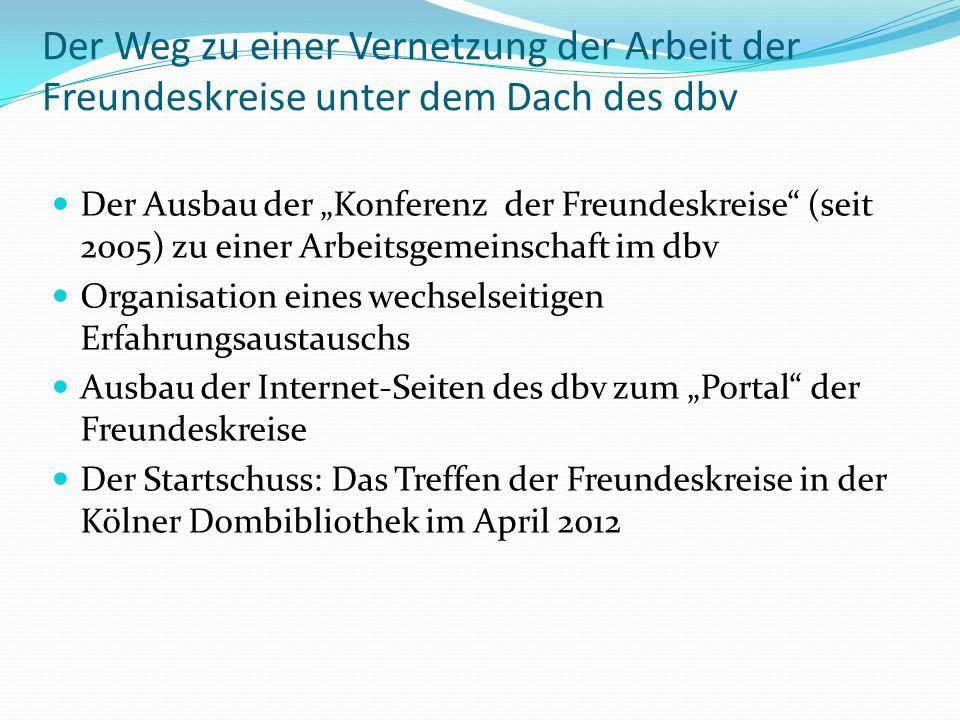 Die Tagung der Freundeskreise in der Kölner Dombibliothek am 21.