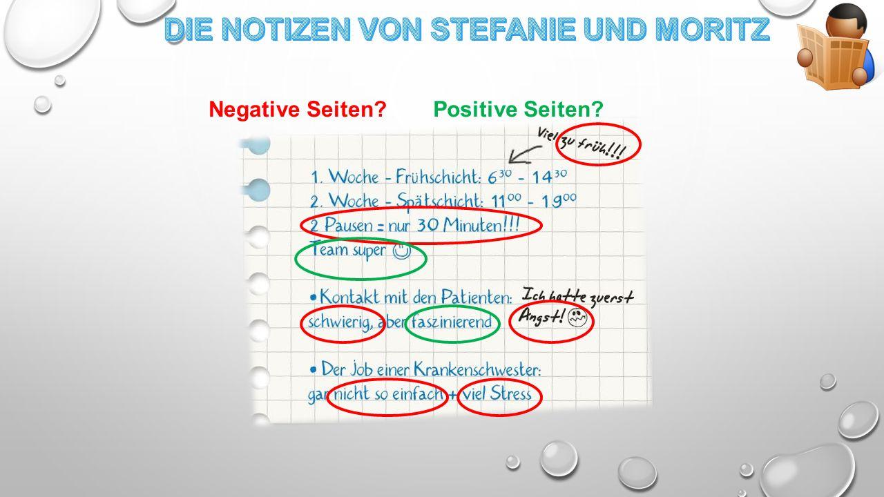 Negative Seiten?Positive Seiten?