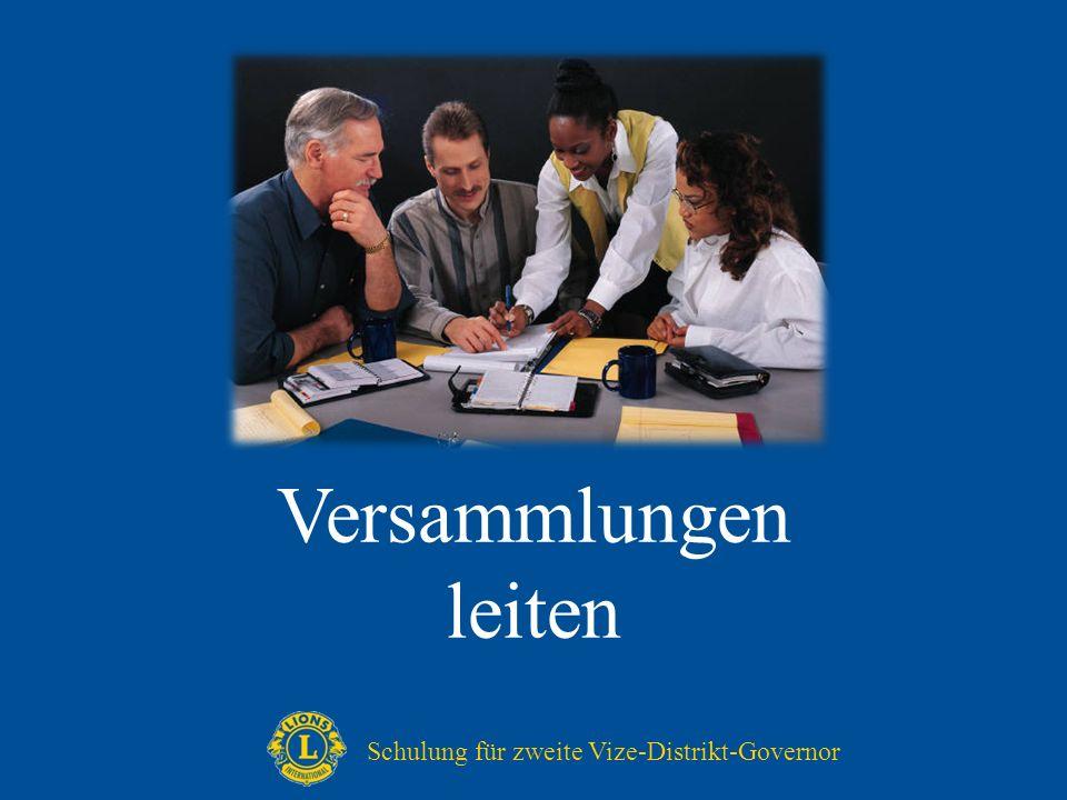 Versammlungen leiten Schulung für zweite Vize-Distrikt-Governor
