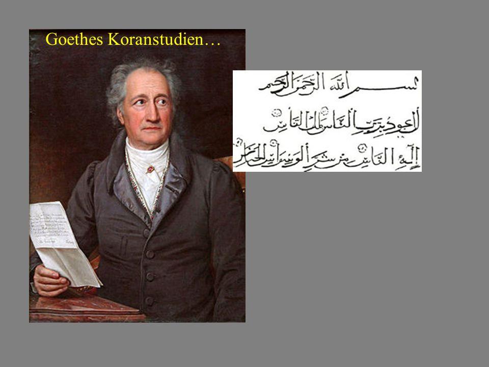 Goethes Koranstudien…