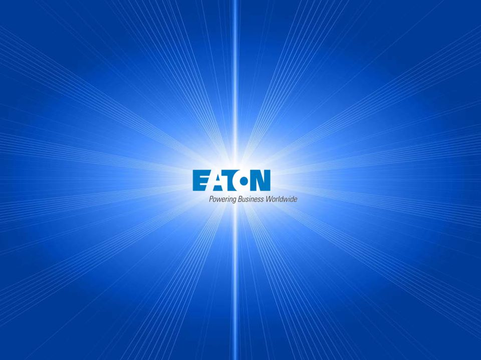 "11 2015 Eaton Corporation. All rights reserved. Germany part of ""powering business worldwide"""