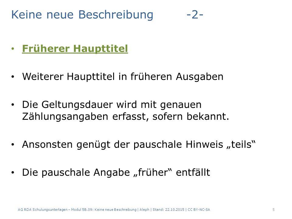Format Indikatoren beim ASEQ-Feld 375 Kennzeichnung des frühesten Haupttitels  Indikator _ 375_ $a Kölnische Volkszeitung und Handelsblatt.