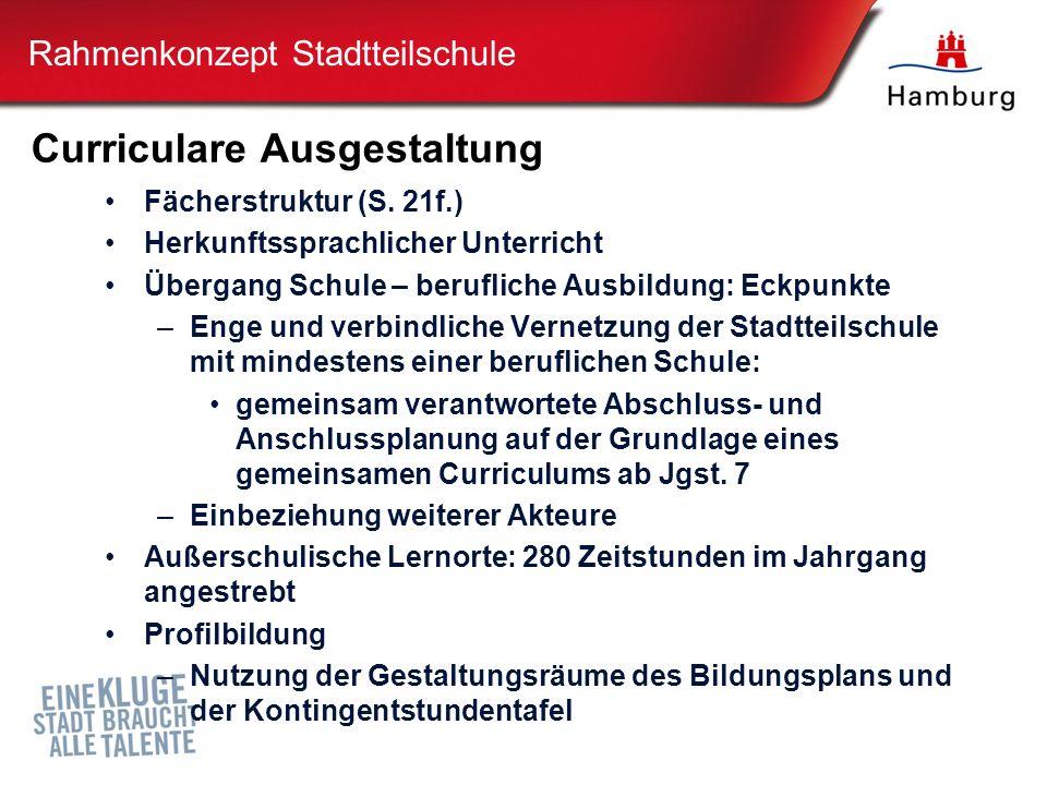 Curriculare Ausgestaltung Fächerstruktur (S.
