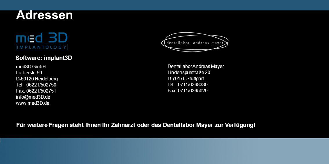 Adressen med3D GmbH Lutherstr.