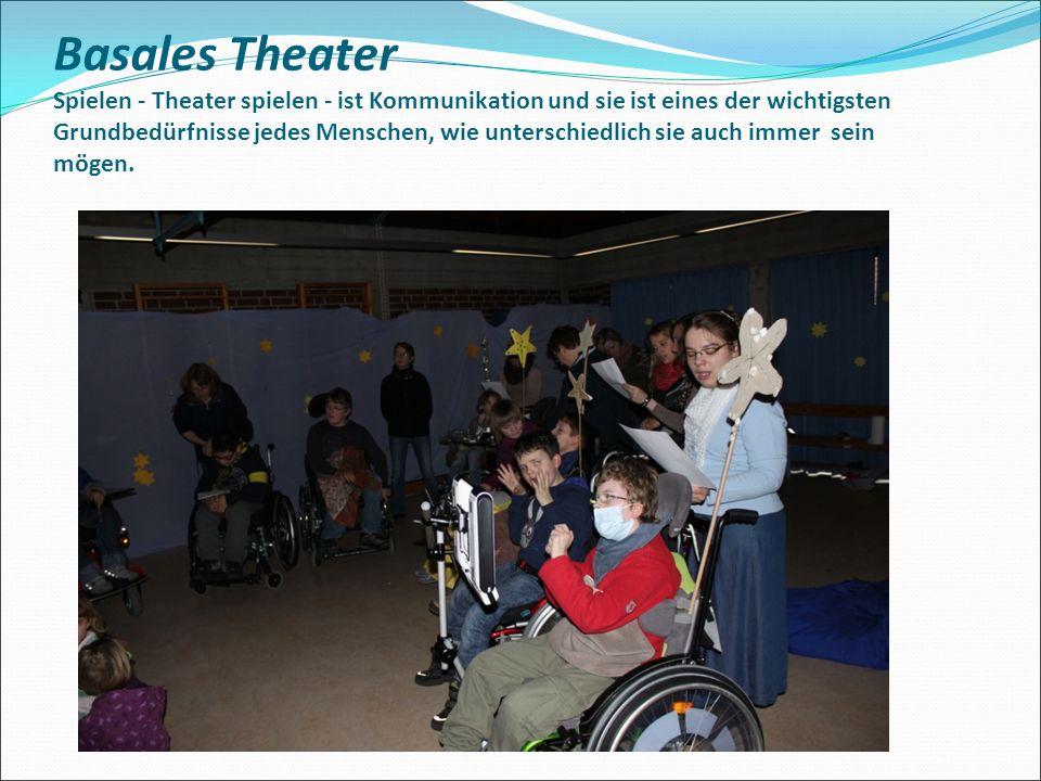 Basales Theater Spielen - Theater spielen - ist Kommunikation und sie ist eines der wichtigsten Grundbedürfnisse jedes Menschen, wie unterschiedlich s