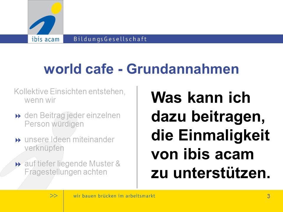 4 world cafe - Grundannahmen Das Wissen & die Weisheit, die wir benötigen, sind bereits in uns vorhanden & können zugänglich gemacht werden.