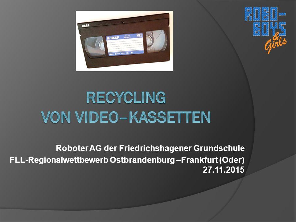 Roboter AG der Friedrichshagener Grundschule FLL-Regionalwettbewerb Ostbrandenburg –Frankfurt (Oder) 27.11.2015