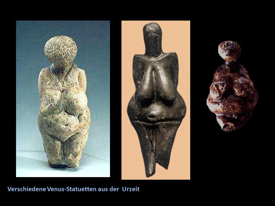 Verschiedene Venus-Statuetten aus der Urzeit